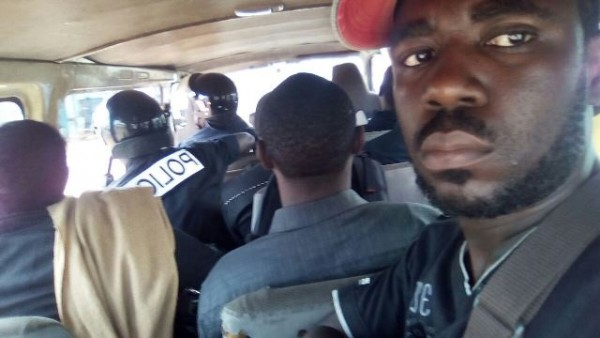 CPP militants in Police Car